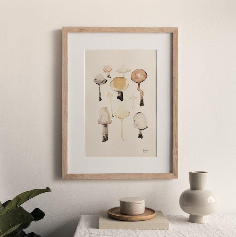 Wild Mushrooms Art Print Shop