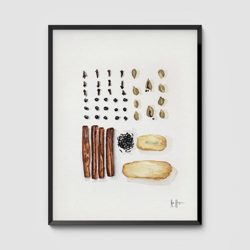 Chai Spices Framed Art Print