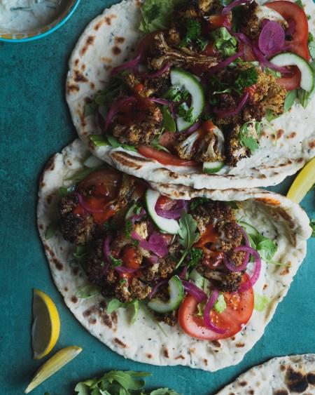 Middle Eastern Vegetarian Cauliflower Shawarma