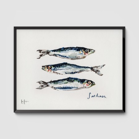 Sardines Framed Art Print