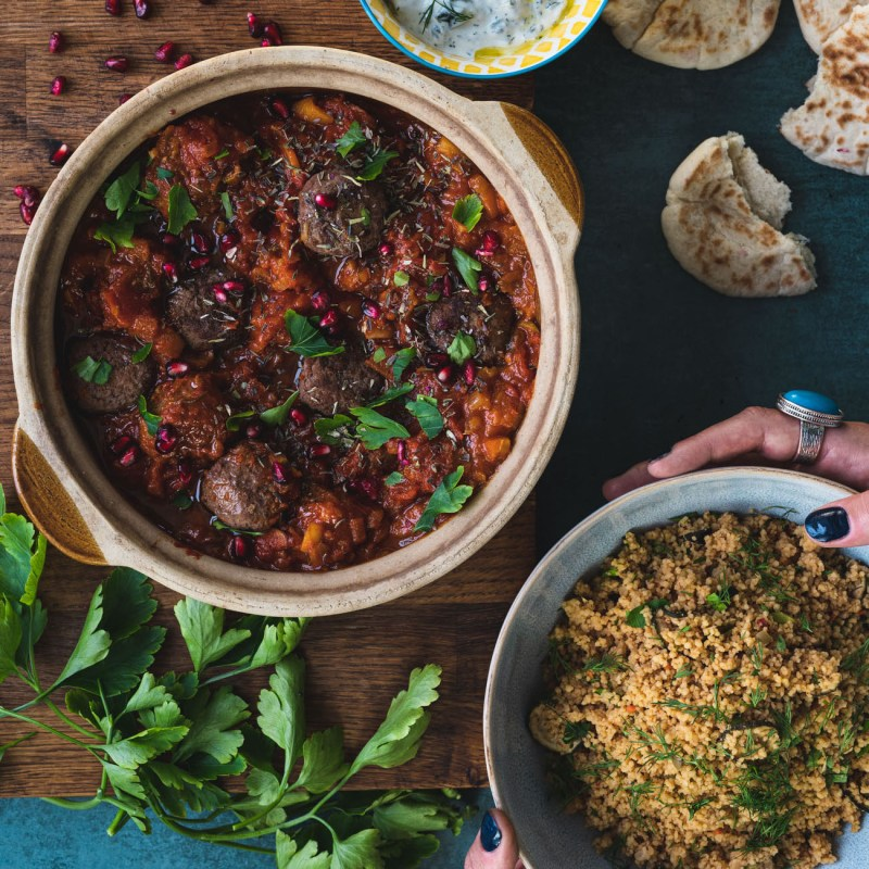 Middle Eastern Lamb and Beef Meatballs