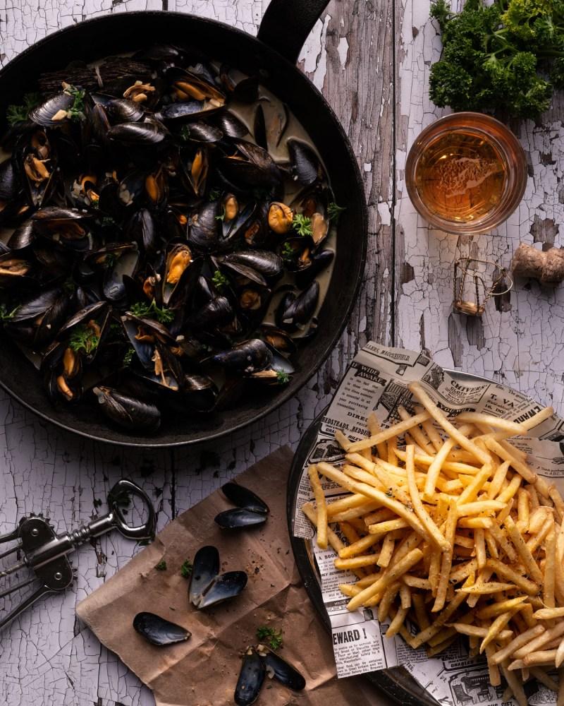 Moules Marinières Frites Mussels