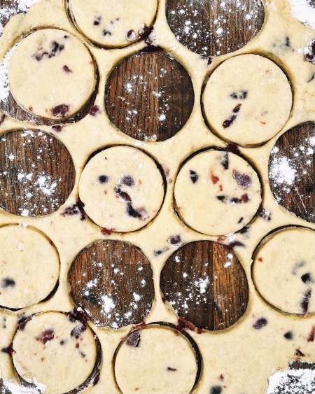 Cherry and Almond Welsh Cakes