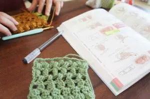 埼玉県所沢市のかぎ針編み教室pomponnerのレッスン風景
