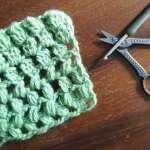 埼玉県所沢市の編み物教室pomponnerが編んだかぎ針編みの編み地