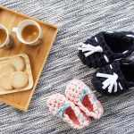 埼玉県所沢市のかぎ針編み教室pomponnerが開催したsaiのいちのzpagettiモカシンWS