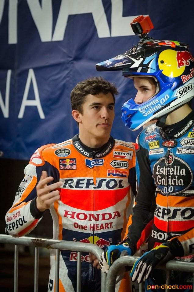 Alex & Marc Marquez - Superprestigio Dirt Track Barcelona 2014