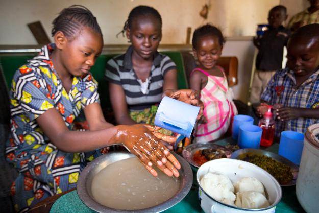 Lavage des mains en RDC