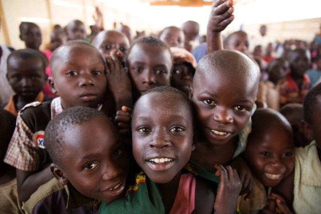 Displaced children in Ituri
