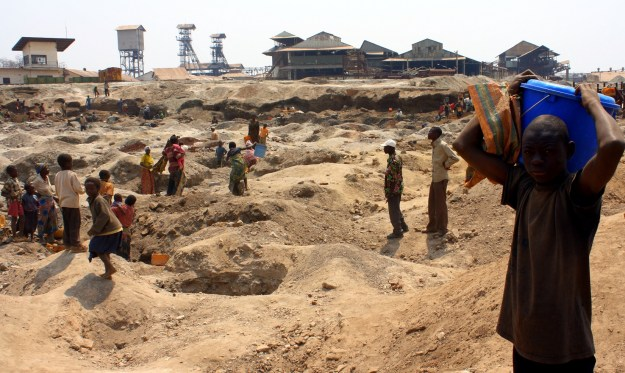 enfants dans les mines en RDC
