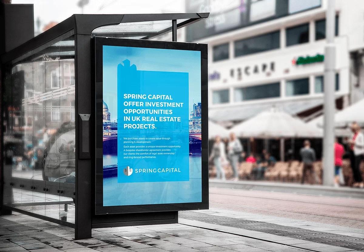 Reklama outdoor projekt znaku graficznego