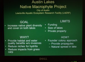 Cover Sheet for Native Macrophyte Project