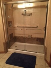 The finished shower
