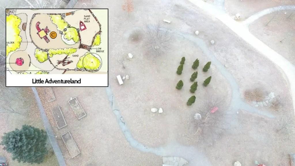 Little Adventureland area of Pond Cove Playground