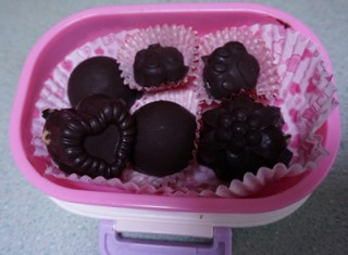 gluten free dairy free homemade coffee and chocolate peanut butter chocolates