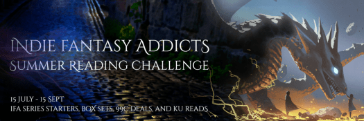 Dragon being petted by a girl who would be the most pleasing snack size.  Lovely, almost alien blue atmosphere. Awesome August Fantasy 99c and KU Deals
