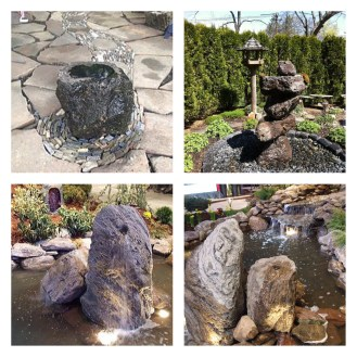 rock fountains