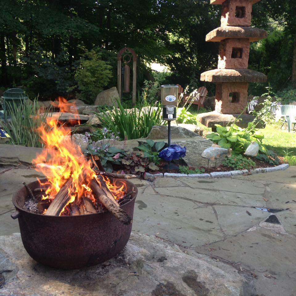Enjoy the koi pond &  garden while you are here.