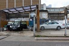 A car garage off of Whitechapel Road. © Violet Acevedo