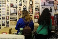 Browsing the Bansky prints in the Portobello Market store. © Violet Acevedo
