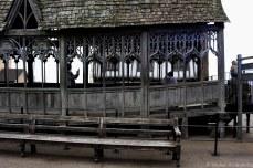 Outside one of Hogwarts' many bridges. © Violet Acevedo.