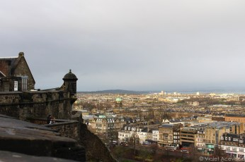 The view of New Town from Edinburgh Castle. © Violet Acevedo