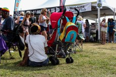 Hiding from the sun and crowds at the Bayou Boogaloo. © Violet Acevedo