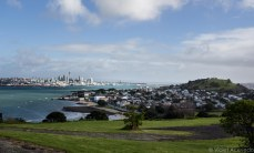 Devonport sits in the foreground while Auckland stands in the background. © Violet Acevedo