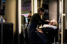 You can get your eyebrows threaded while shopping at the South Melbourne Market. © Violet Acevedo