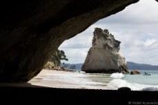 The famed Cathedral Cove. © Violet Acevedo