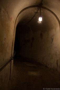 The tunnel to the dungeon, designed to be blown up. © Violet Acevedo