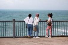 But we still found tourists chattering. © Violet Acevedo