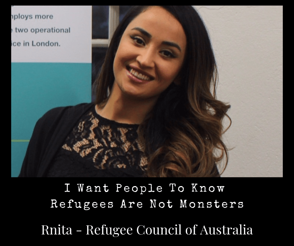 Ponderings Article Refugee Council of Australia, I don't want people to think refugees are monsters