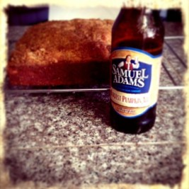 Banana Nut bread and Sam Adams Pumpkin Ale