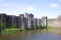 Caerphilly Castle, Wales, UK, Britain