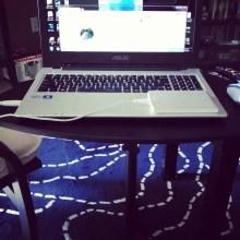 laptop stand, instagram