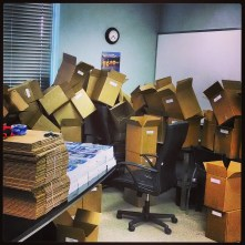 Boxes, office, instagram