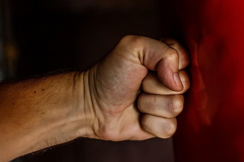 angry boxer