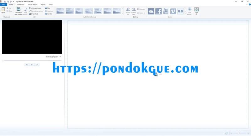Tampilan Aplikasi Movie Maker | Dok. Pribadi
