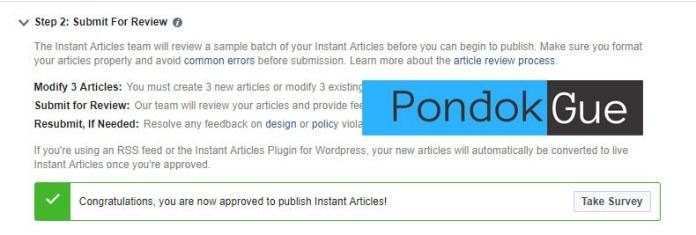 Submit Blog Untuk Instant Article