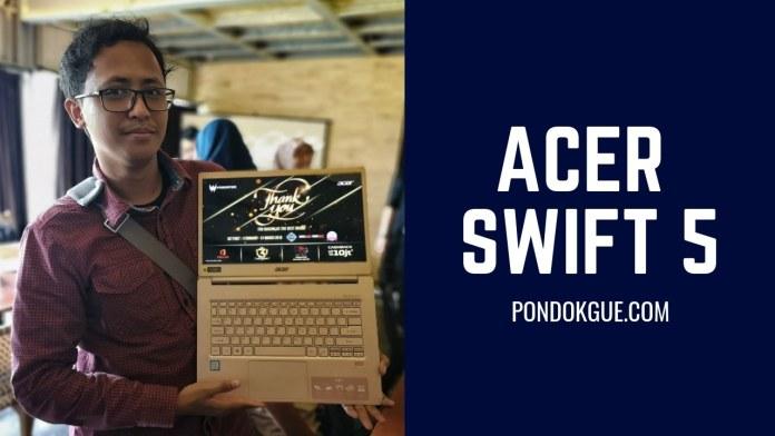 Berpose Bareng Acer Swift 5