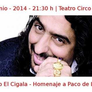 30 junio - 2014 - 21:30 h | Teatro Circo Price | Diego El Cigala - 'Homenaje a Paco de Lucía' | Veranos de la Villa 2014 | Madrid