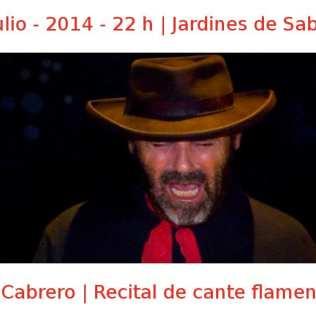 10 julio - 2014 - 22:00 h | Jardines de Sabatini | El Cabrero - Recital de cante flamenco | Veranos de la Villa 2014 | Madrid