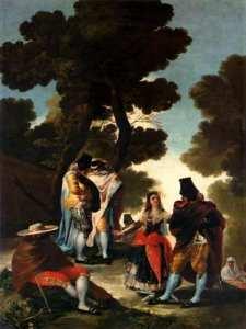 'La maja y los embozados' o 'El paseo de Andalucía' | Óleo sobre lienzo | 1777 | Francisco de Goya | Museo del Prado | Madrid