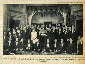 Estreno Canto Rural a la España   Ateneo de Madrid 26/04/1931   Fotografía de Marín publicada en Mundo Gráfico   Archivo Ateneo de Madrid