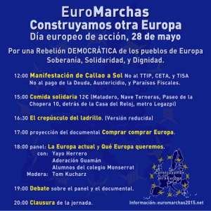 EuroMarchas   Construyamos otra Europa   Día Europeo de Acción   Por una Rebelión Democrática de los Pueblos de Europa: Soberanía, Dignidad y Solidaridad   28/05/2016   Programa Madrid
