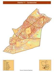 Plano Distrito de Carabanchel (Madrid) | Fuente DGE Ayuntamiento de Madrid