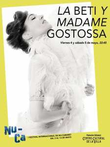 1er Festival Internacional NU-CA   Fernán Gómez-Centro Cultural de la Villa   Madrid   03 al 13/05/2018   La Beti y Madame Gostossa   Sala Jardiel Poncela   04 y 05/05/2018
