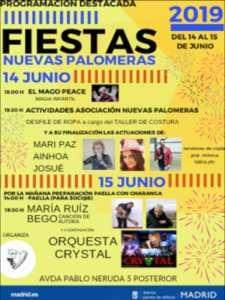 Fiestas Nuevas Palomeras 2019 | Asociación de Vecinos Nuevas Palomeras | 14 y 15/06/2019 | Puente de Vallecas | Madrid | Programación destacada