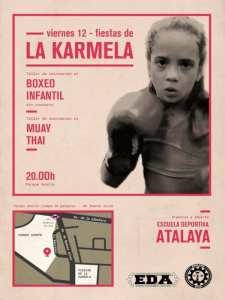 Fiestas de la Karmela 2019 | Puente de Vallecas | Madrid | 11-14/07/2019 | Cartel Talleres de Boxeo infantil y Muay thai
